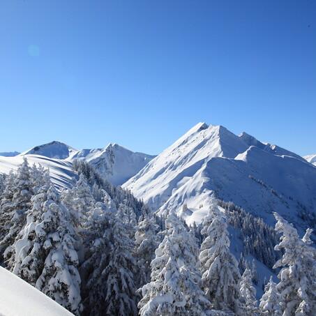 Blick zum Frauenkogel im Winter