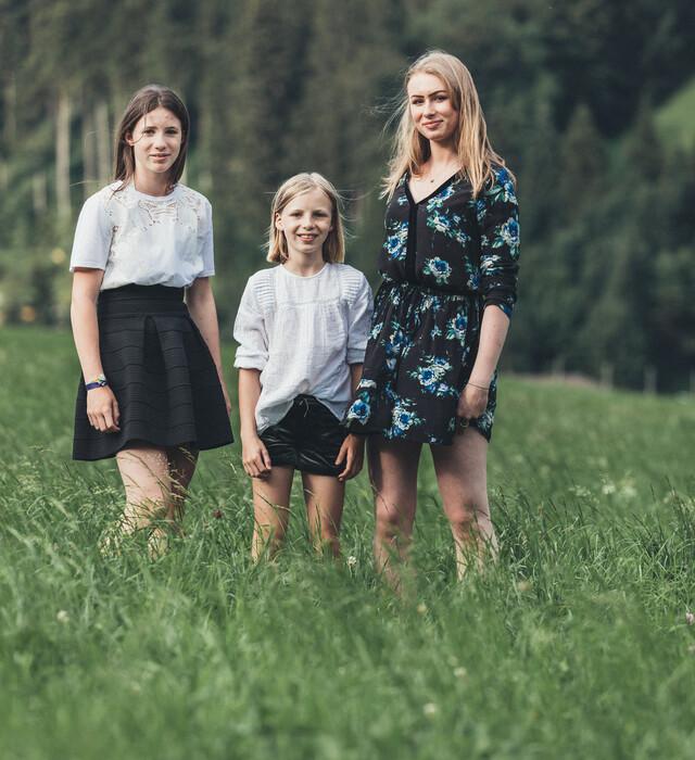 Kinder der Familie Neudegger - Ihre Gastgeber im 4*S Hotel Nesslerhof in Großarl