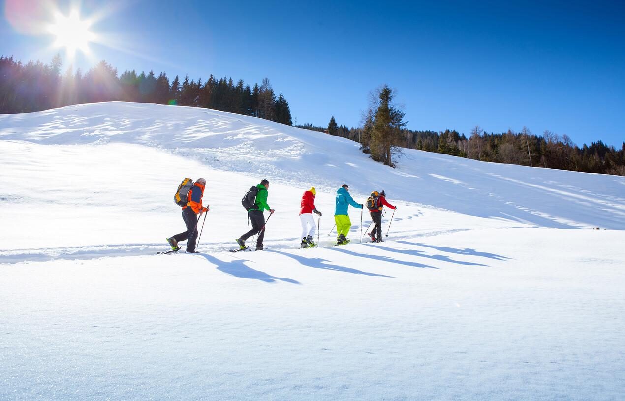 Schneeschuhwanderer im Großarltal - perfekter Winterurlaub im Ski- & Wellnesshotel Nesslerhof in Großarl, Salzburger Land