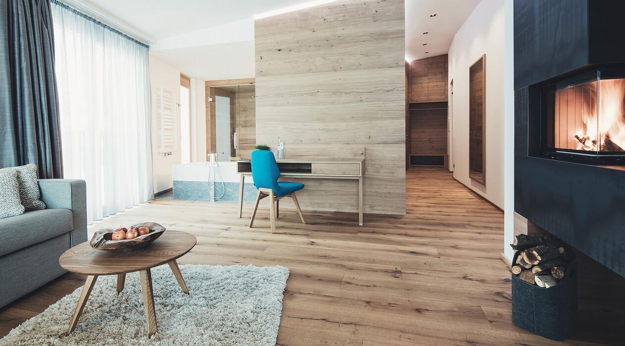 Suite mit eigenem Kamin für einen Romantikurlaub in Großarl