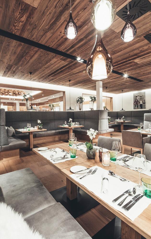 Modernes Restaurant im Hotel Nesslerhof, Großarl