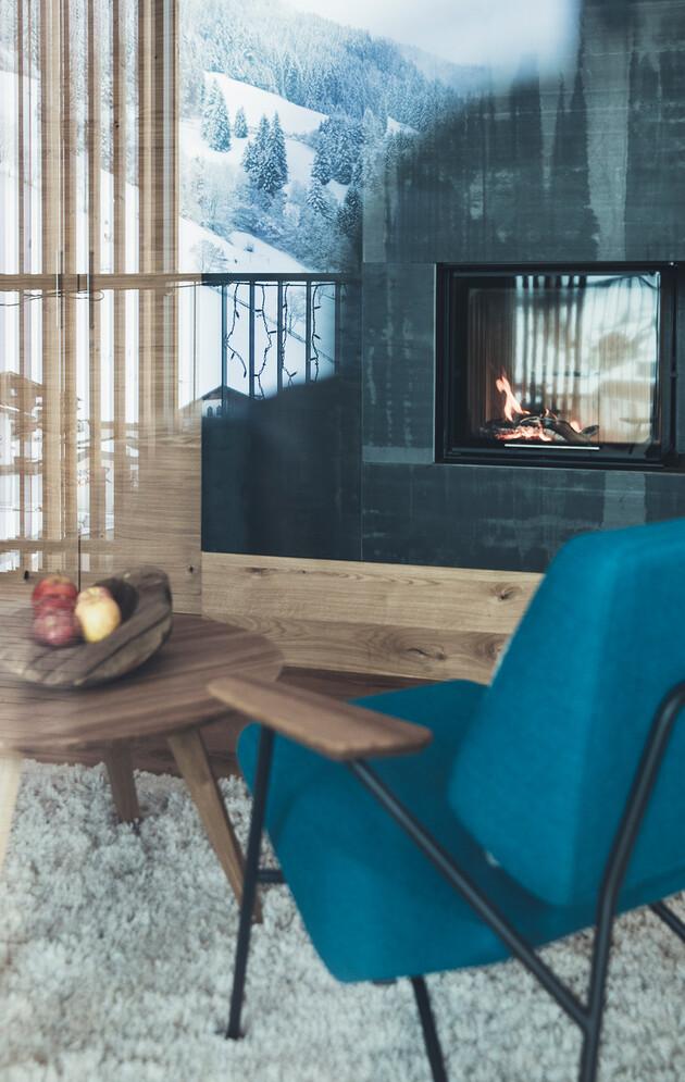 Romantische Suite mit Kaminofen im Nesslerhof